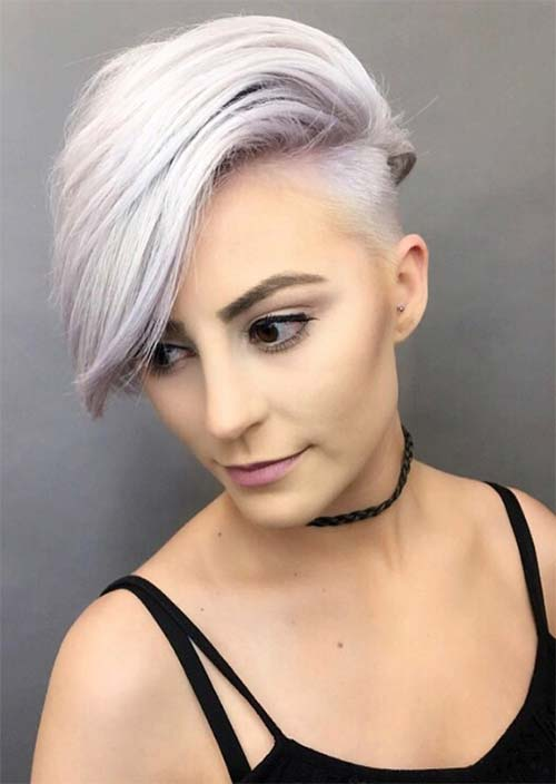 undercut female short hair