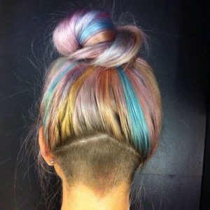 undercut haircut female long hair