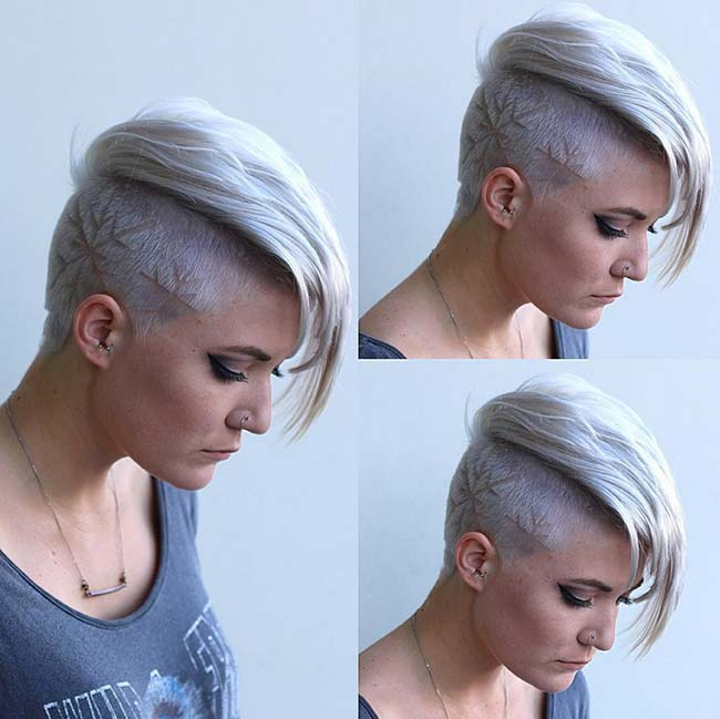 undercut haircut female