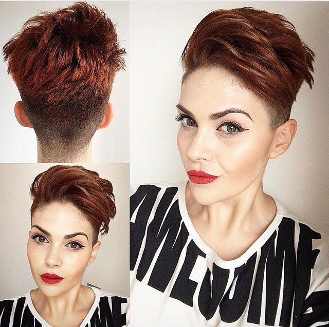 undercut hairstyle female black