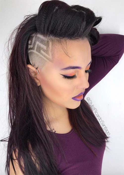 undercut hairstyle female bob
