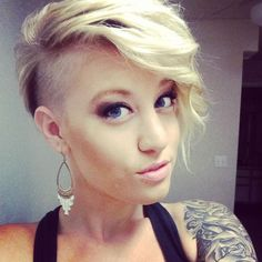 undercut hairstyle female long