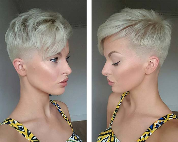 undercut hairstyle for round face female