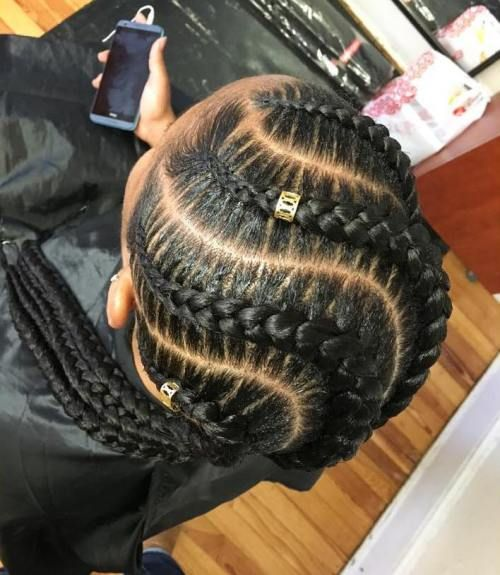 black hair braids styles pictures