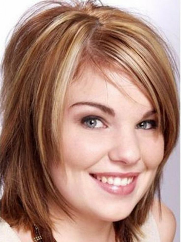 hairstyle for round chubby face