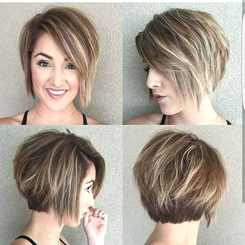 hairstyle with bangs for round chubby face