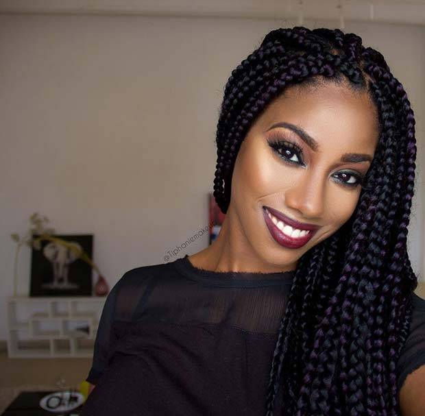 natural hair styles with braids